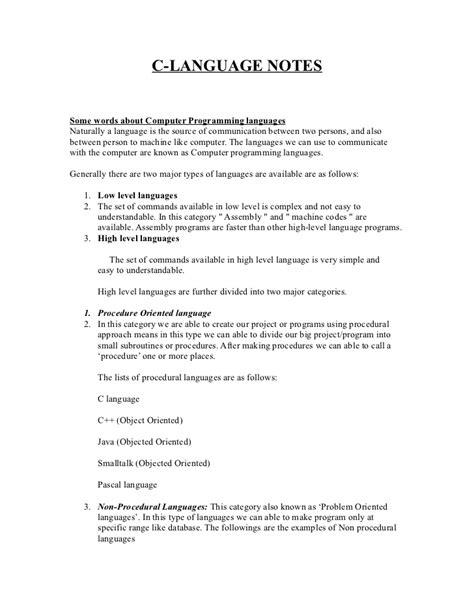 pattern programs in c language pdf c notes pdf