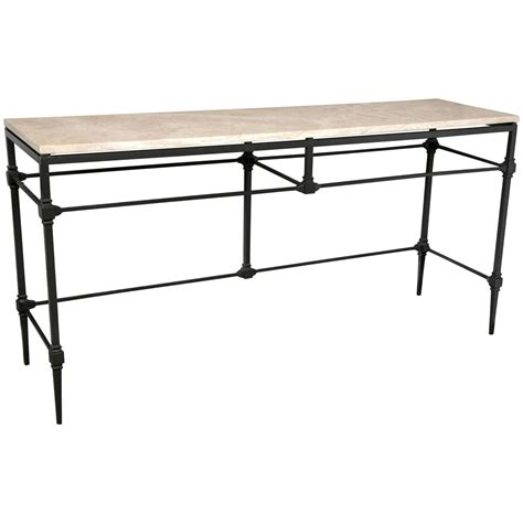 wrought iron sofa table wrought iron console sofa table for sale at 1stdibs