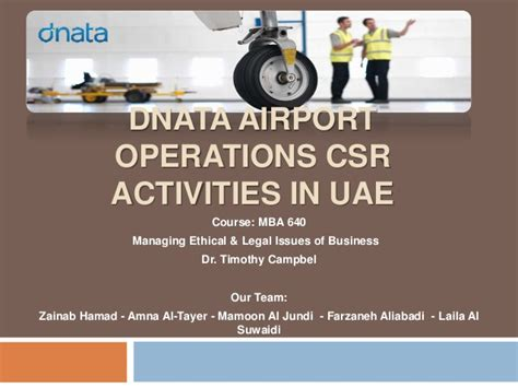 Mba Year Projects In Operations Free by Dnata Airport Operation Csr Activities In Uae Mba