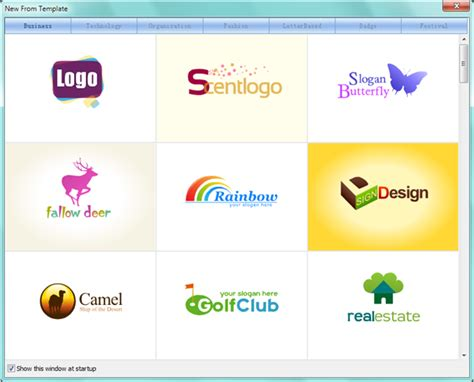 logo maker template how to select a template in sothink logo maker