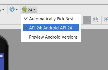 android api versions can not downgrade the android api version