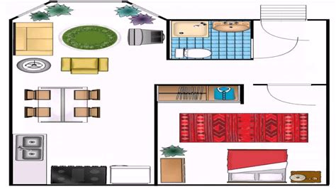visio home plan template visio house plan template