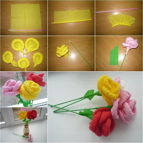 How To Make Flowers Out Of Paper Napkins - how to diy easy napkin paper flowers icreativeideas