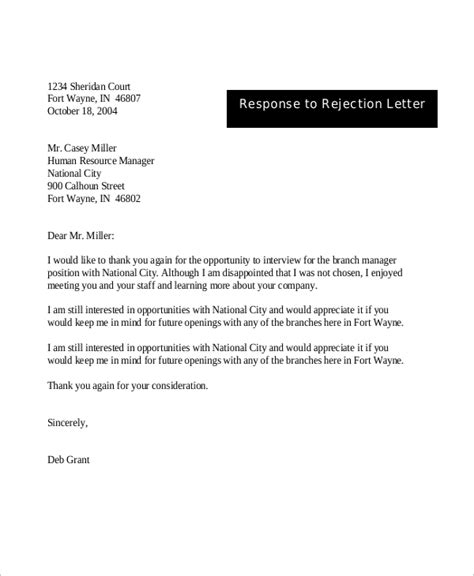8 Sle Rejection Letters Sle Templates Rejection Letter Template After