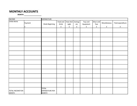 printable bill organizer spreadsheet 18 best images of free monthly household budget worksheet