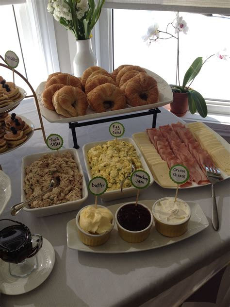 wedding shower lunch recipes croissant bar great baby shower brunch or lunch idea could do egg and chicken salads roasted
