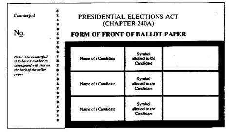 voting slip template ballot template out of darkness