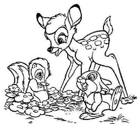 bambi deer coloring pages kolorowanki dla dzieci malowanki bajki i piosenki