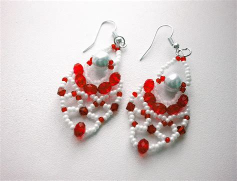 beaded earrings patterns free pattern for pretty beaded earrings charm magic