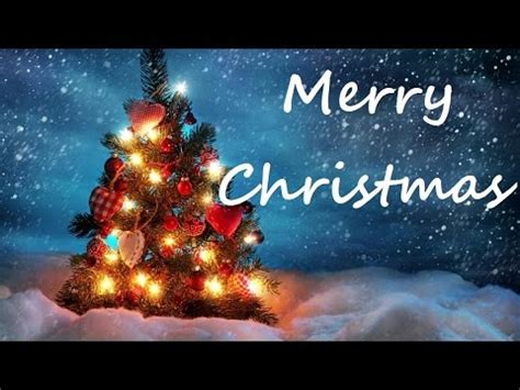 merry christmas    beautiful christmas card youtube