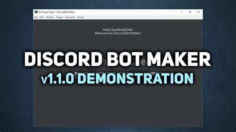 discord voice bot discord bot maker v1 1 0 update demonstration youtube