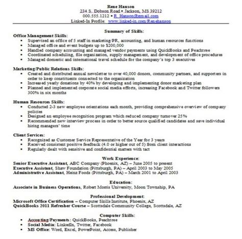 Skill Based Resume Sles by Is A Skills Based Resume Right For You