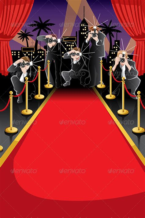 red carpet and paparazzi background graphicriver