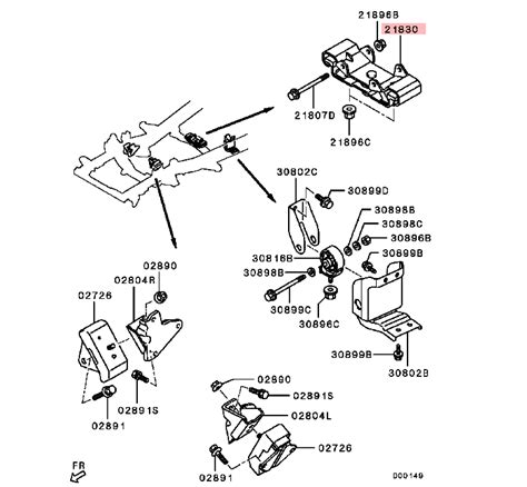 Insulator Mitsubishi Pajero Sport t m mounting insulator for mitsubishi triton l200 sport