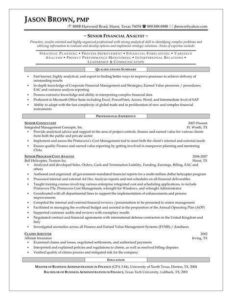 financial analyst resume objective payroll analyst job cover