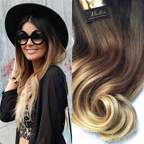 blonde ombre hair weave high contrast neutral ombre clip in extensions silky