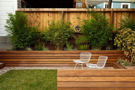 12 ideas for including built in wood planters in your