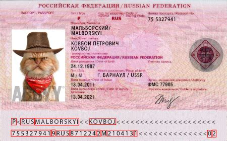 Russian Id Card Template by Processmrz Method