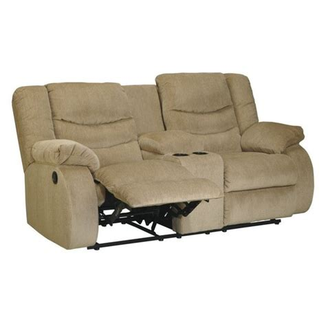 ashley reclining loveseat with console ashley furniture garek double reclining loveseat and