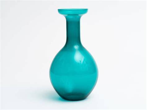 Green Glass Bottle Vase by Italian Green Glass Bottle Vase For Sale At 1stdibs