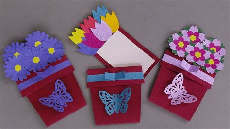 to make greeting cards diy flower pot card handmade greeting card ideas