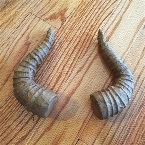 How To Make Paper Mache Horns - mask with horns part 1 manning makes stuff