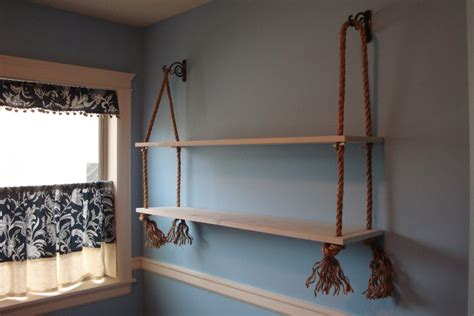 office makeover rope shelves noble vintage