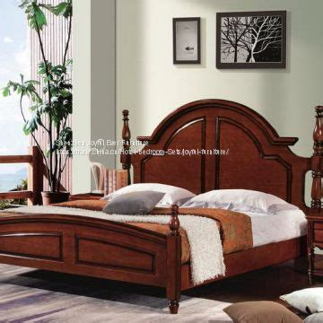 Rubberwood Bedroom Furniture Imported Malaysian Rubberwood Bedroom Furniture Set Walnut Painting Bed With Pine Bedboard Of