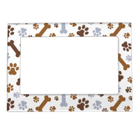 puppy frames dogs pet pets magnetic picture frames zazzle