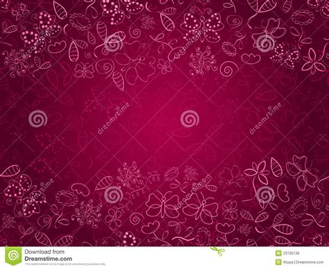doodle pink doodle pink card with flower and butterflies royalty free