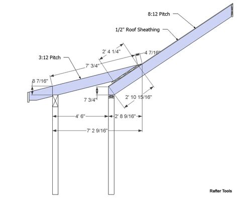 Shed Roof Calculator by Roof Framing Geometry Dormer Shed Roof Rafter Calculator