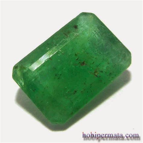 Octagon Green Topas Batu Permata Zamrud 002h Jual Batu Permata Hobi Permata
