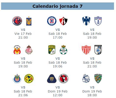 Calendario Liga Bancomer Mx Jornada 17 Calendario De Juegos Jornada 7 De La Liga Mx Clausura 2017