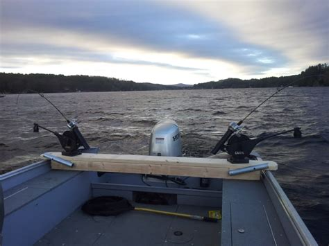 boat transom name boards easy on off homemade downrigger transom board tackle and