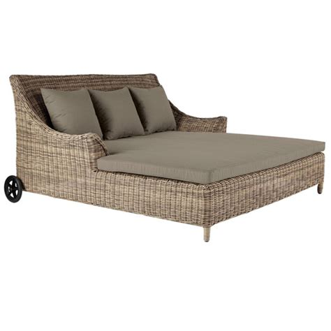 double day bed in rattan easthton oka