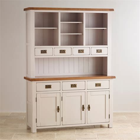 kemble painted large dresser in rustic solid oak