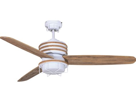 driftwood ceiling fan craftmade moorestad matte white two light 54 inch wide
