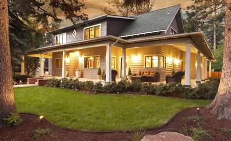 Large Front Porch House Plans | large front porch house plans