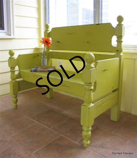 twin bed bench bench made from a twin bed for the home pinterest