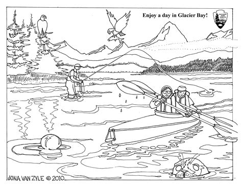 a coloring sheet coloring sheets glacier bay national park preserve u
