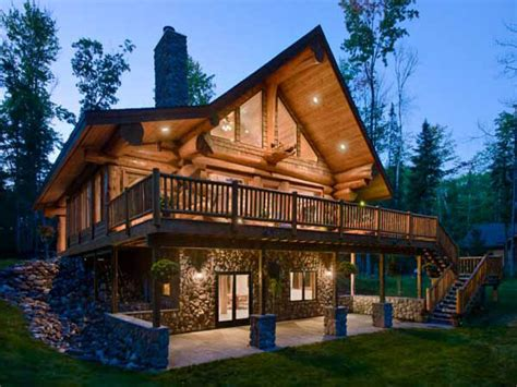 Modern Log Home Plans by Walkout Basement House Plans Log Homes With Walkout