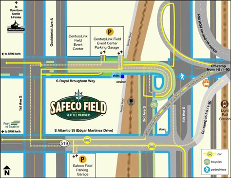 transportation driving directions seattle mariners