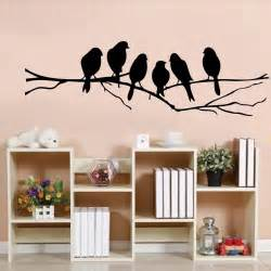 diy wall stickers 85 26cm diy wall stickers decal removable black bird tree