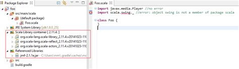 scala swing cannot add scala swing dependency via gradle in scala ide
