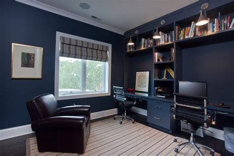 Blue Office Interiors by 21 Blue Home Office Designs Decorating Ideas Design