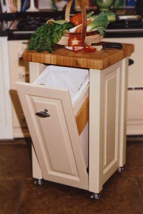kitchen island with garbage bin sabin designs joinery shepherds huts worcesterhsire