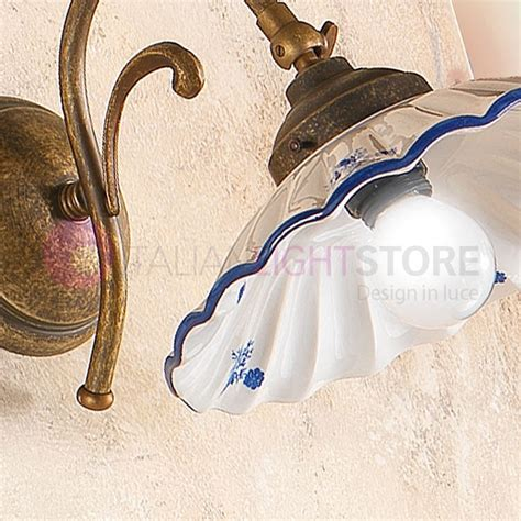 applique da parete rustiche altopascio applique ceramica ottone rustica country