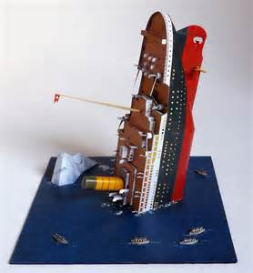 How To Make A Titanic Model Out Of Paper - paper model 1 600 diorama titanic recortables y pop up
