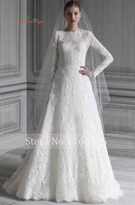 design dress with sleeves new designer elegant long sleeves lace wedding dresses