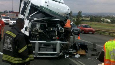 four killed in head on collision with truck sabc news
